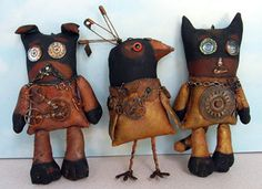 Frowning Francis Folk Art Patterns - Frowning Francis - Steampunk Buddies [7118]