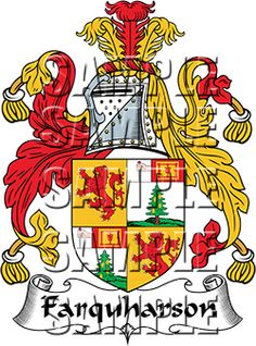 Farquharson Family Crest apparel, Farquharson Coat of Arms gifts
