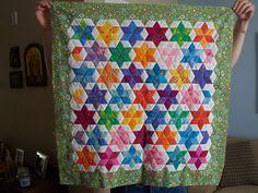 Star pieced quilt