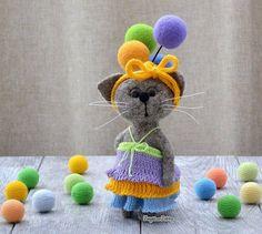 Елена Коверт. Cat with balloons.