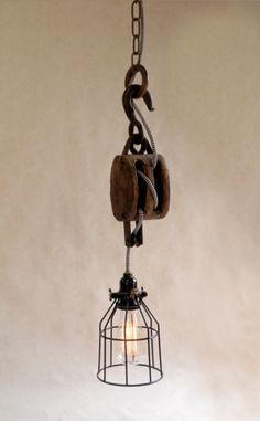 vintage pulley light 2