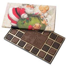 Beautiful Holiday Custom Christmas 45 Piece Assorted Chocolate Box