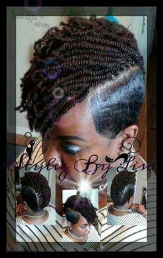 Crochet braids with shave sides #ilovecrochetbraids # ...