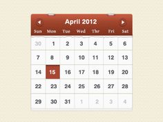 Dribbble - Lighter Calendar by James Waldner Calendar Design, Lighter, Pattern Design, Menu, Menu Board Design