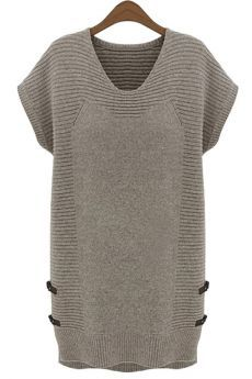 Cheap women dress, Buy Quality wool dress directly from China sweater dress Suppliers: Ladies' V collar wool Dress short sleeved vest all-match loose sweater dress Spring and Autumn 2017 large size women's Dress Casual Sweaters, Long Sweaters, Sweaters For Women, Knit Sweaters, Loose Sweater, Sweater And Shorts, Sweater Dresses, Women's Shorts, Cashmere Dress