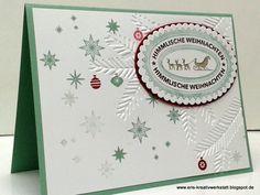 #Weihnachtskarten mit #Sternen, #Schnee und #Rentierschlitten für liebe Kunden   http://eris-kreativwerkstatt.blogspot.de/2016/11/weihnachtskarten-mit-sternen-schnee-und.html  #stampinup #teamstampingart #weihnachten #xmas# #christmas #karte