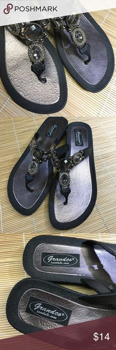 Grandco Sandals Wouldn't these look just fab at the pool!? Hardly worn, in great shape, size 8. FYI - the sole is a silvery mauve color. A6 Grandco Shoes Sandals