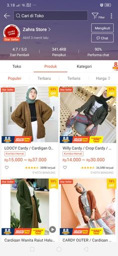 Best Online Clothing Stores, Online Shopping Sites, Online Shopping Clothes, Dress Brokat Modern, Hijab Style Tutorial, Casual Hijab Outfit, Instagram Story Template, Girl Photography Poses, Vintage Outfits