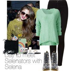 Day to meet Selenators with Selena, created by haushuahusahuhushu on Polyvore