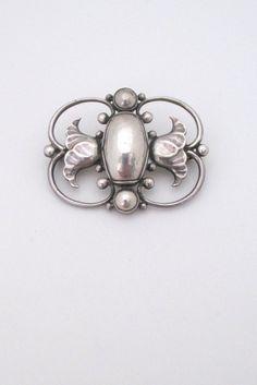 Georg Jensen, Denmark - vintage silver Skonvirke brooch # 236B