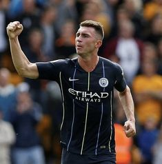 Manchester City defender Aymeric Laporte bagged his side's equaliser with a powerful header from a free-kick Zen, Premier League Champions, Thing 1, Free Kick, Blue City, Super Sport, Best Cities, Manchester City, Header
