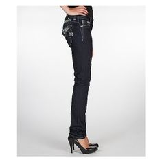 Miss Me Easy Skinny Stretch Jean ($109) ❤ liked on Polyvore