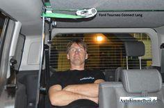 Schlafen im Ford Tourneo Connect Lang II (Bj. seit 2013)   Bequem im Auto übernachten mit Auto-Himmelbett.de