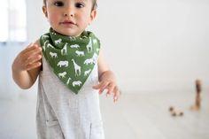 Baby Bandana Bibs - Safari Little Boy Outfits, Little Boy Fashion, Baby Boy Fashion, New Grandparents, Unique Baby Gifts, Gifts For New Parents, Bandana Bib, Baby Gift Sets, Stylish Baby