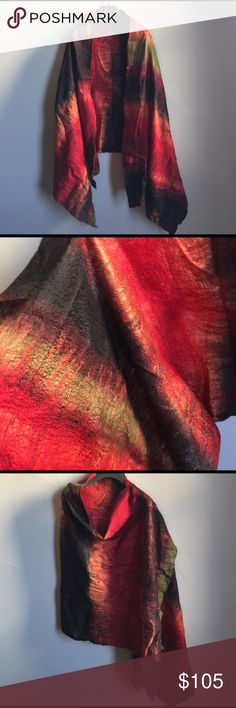 Merino/mulberry silk scarf/wrap Handmade super soft, leightweight Merino/mulberry silk scarf/wrap. Accessories Scarves & Wraps