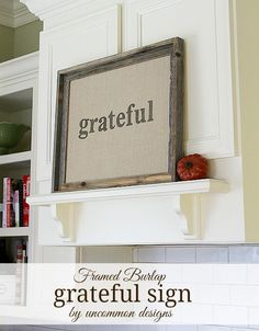 How To Make a Burlap Fall Sign