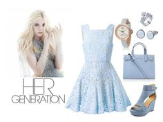 """""""Saphire"""" by lovettaa on Polyvore featuring Alex Perry, Kurt Geiger and Skagen"""