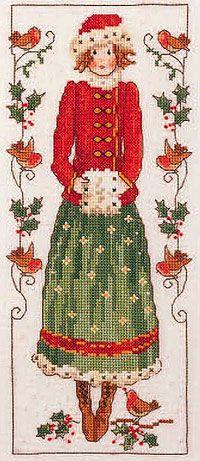 Schema punto croce Winter Lady 01