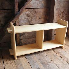 Natural Solid Wood Montessori style shelf unit