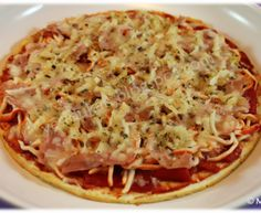 Yes, I Du-kan!: Pizza crujiente Dukan - New Ideas Dukan Diet Recipes, Blood Type Diet, Light Recipes, Deli, Cilantro, Quiche, Macaroni And Cheese, Spaghetti, Low Carb