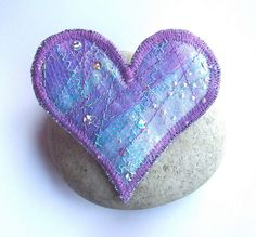 Textile Heart Brooch
