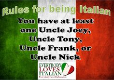 Rules for being Italian - Dean Martin Last Name . Italian Baby, Italian Girls, Italian Style, Italian Memes, Italian Quotes, Italian Phrases, Italian Girl Problems, Italian Traditions, Italian Language
