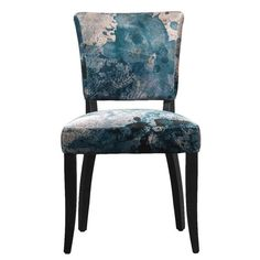 Timothy Oulton Mimi Velvet Faded and Degraded Dining Chair, Melting Paisley | Dining Chairs | Dining Room