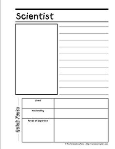 scientist notebooking page from notebookingfairy.com