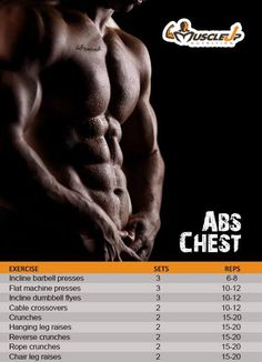 Chest & Abs workout program to sculpt your chest and shred your abs this weekend!  https://www.facebook.com/photo.php?fbid=627856343924824