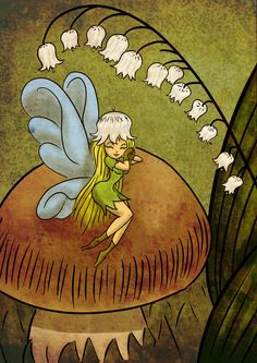 Lily of the valley and Fairy by equesada.deviantart.com on @DeviantArt
