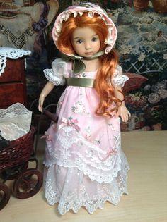 Effner Little Darling Doll Regency Embroidered Dress, Bonnet ,and Pantaloons* #DiannaEffner