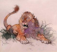 "Frank Frazetta ""Lion"" sketch accomplished in watercolor and pencil Frank Frazetta, Animal Drawings, Art Drawings, Drawing Animals, Lion Sketch, Bd Art, Architecture Art Design, Fantastic Art, Wildlife Art"
