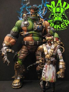 Hulkenstein and Steampunk Dr. Banner (Halloween) Custom Action Figure