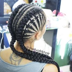 Wavy Centre-Parted Tree Braids - Top 25 Tree Braids Hairstyles - The Trending Hairstyle Feed In Braids Hairstyles, Fishtail Braid Hairstyles, Girl Hairstyles, Braids For Kids, Girls Braids, Curly Hair Styles, Natural Hair Styles, French Braid Ponytail, Braids For Black Hair