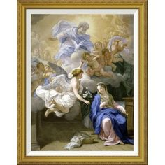 "Global Gallery 'The Annunciation' by Giovanni Odazzi Framed Painting Print Size: 36"" H x 28.58"" W x 1.5"" D"