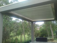 Colorbond framed Louvre roof to rear of dwelling. Nice location for an outdoor area
