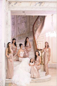 sequin bridesmaids dresses... xoxo