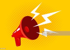 Stock Illustration : Vector red megaphone Source by Free Illustrations, Still Image, Vector Icons, Vintage Posters, Red, Action, Logo, Poster Vintage, Group Action