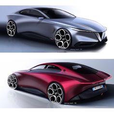 Alfa Romeo GTV: quando arriverà non lascerà indifferenti Car Design Sketch, Truck Design, Car Sketch, Alfa Romeo Gtv, Alfa Romeo Cars, Automobile, Super Sport Cars, Busse, Futuristic Cars
