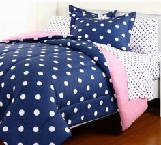 5pc Blue Pink Reversible Polka Dot College Dorm TWIN XL Comforter Set (5pc Bed in a Bag), http://www.amazon.com/dp/B00D2R22HM/ref=cm_sw_r_pi_n_awdm_nKyExbPQ860N2