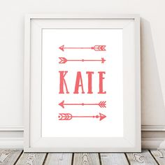 Arrow Print Decor, Best Friend Gift, Boyfriend Gift, Girlfriend Gift, Personalised Print, Valentines, Wall Art Poster (Unframed) Gift Boyfriend, Girlfriend Gift, Happy To Meet You, Personalised Prints, Arrow Print, All Print, Kids Rooms, Customized Gifts, Gifts For Friends