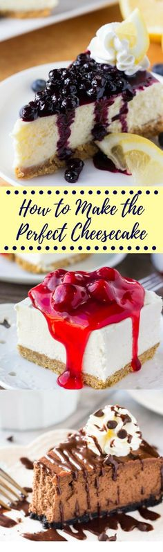 Want to learn how to make the perfect cheesecake? This cheesecake guide will show you everything you need to know including lots of tips & tricks and favorite cheesecake recipes
