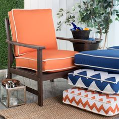 Coral Coast Valencia 24 x 22.5 in. Hinged Deep Seating Chair Cushion | from hayneedle.com