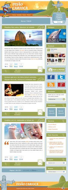 """Layout do Blog """"Visão Carioca"""""""