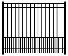 fence images | Residential Ornamental Aluminum Fence