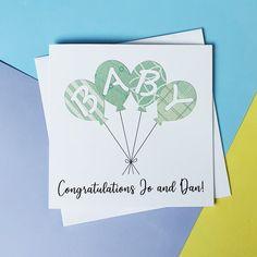 Handmade new baby card Gender neutral Unisex baby card   Etsy Baby Girl Cards, New Baby Cards, 1st Birthday Cake Topper, Handmade Baby, Handmade Items, New Baby Boys, Congratulations Card, Baby Grows, Unisex Baby