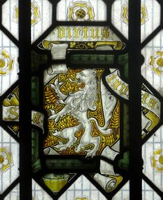 Heraldic detail in the Turret House at Sheffield Manor in Sheffield, Yorkshire
