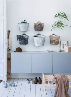 Korbo Basket Liner white in Bin 16L & Bin 24L - Perfect wallmounted storage.