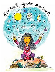 Agradecer | Está Bueno Positive Mind, Positive Vibes, Yoga Mantras, Good Vibes, Law Of Attraction, Reiki, Chakra, Decir No, Positivity