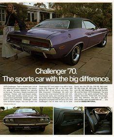 Dodge '70 Challenger ad #dodgechargervintagecars
